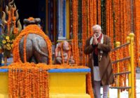 PM Modi at the Kedarnath temple